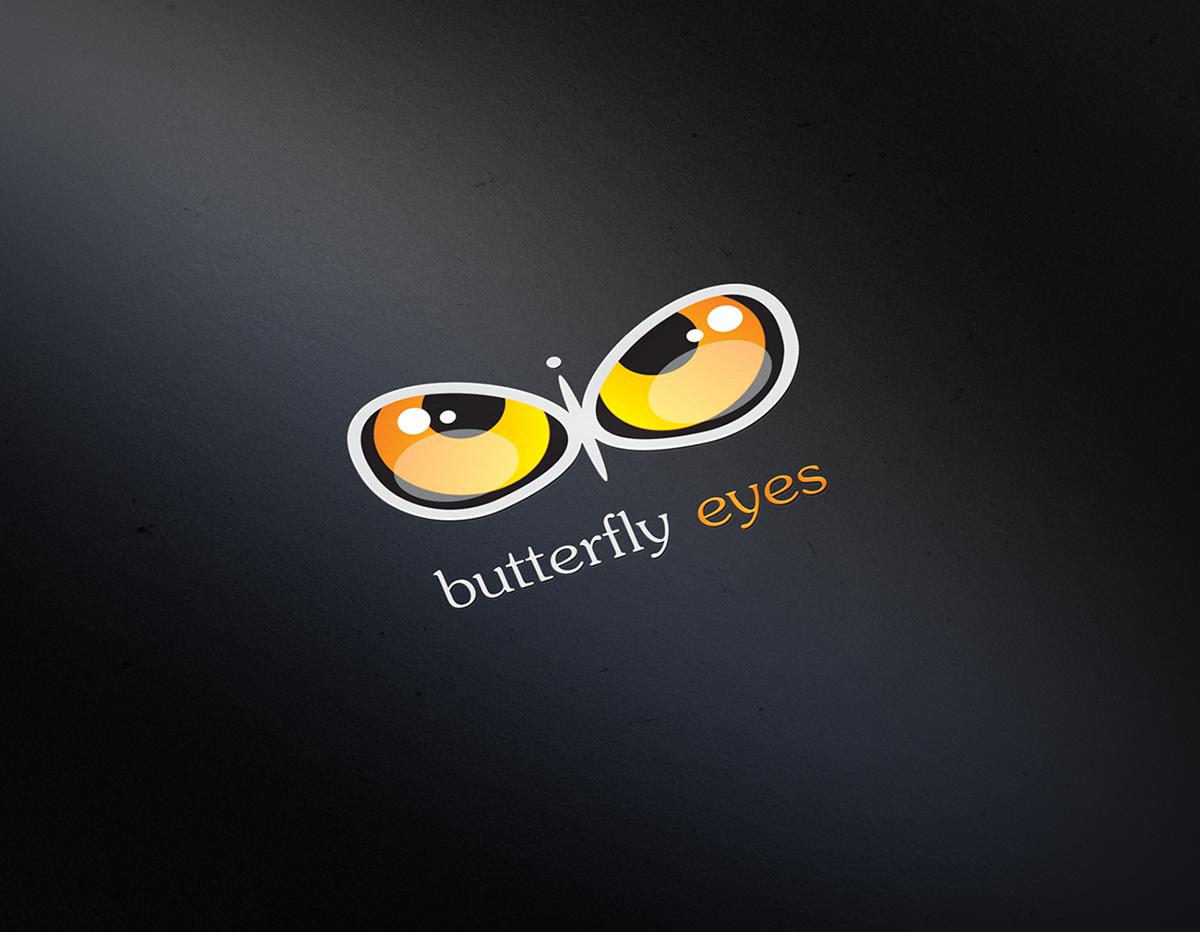 logo butterfly eyes eye animals Mugs drink energy identity branding