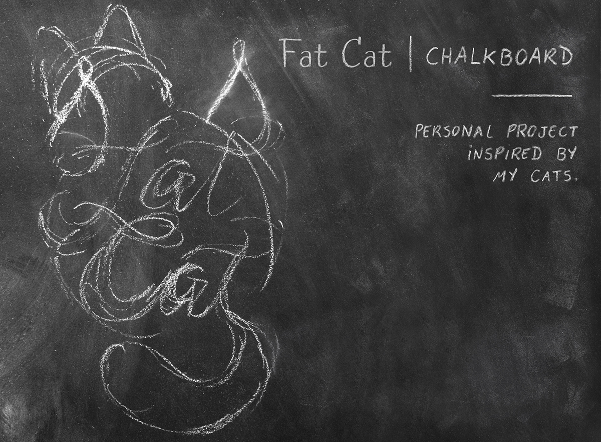 cats Cat Chalkboard chalk lettering