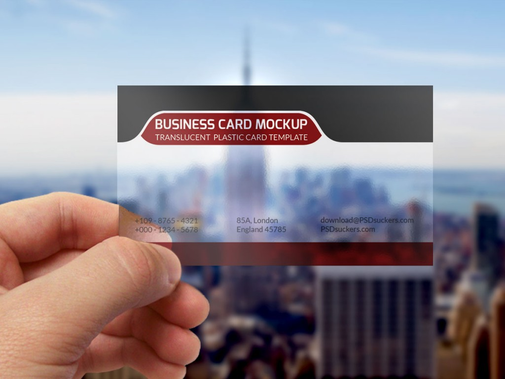 Transparent Business Card Mockup Template PSD On Behance