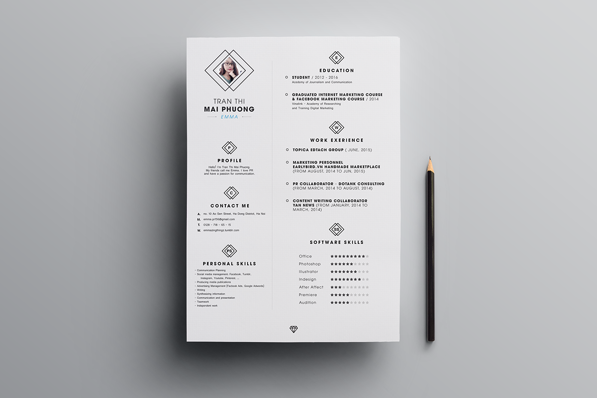 resume Free Resume Template free resume template on behance