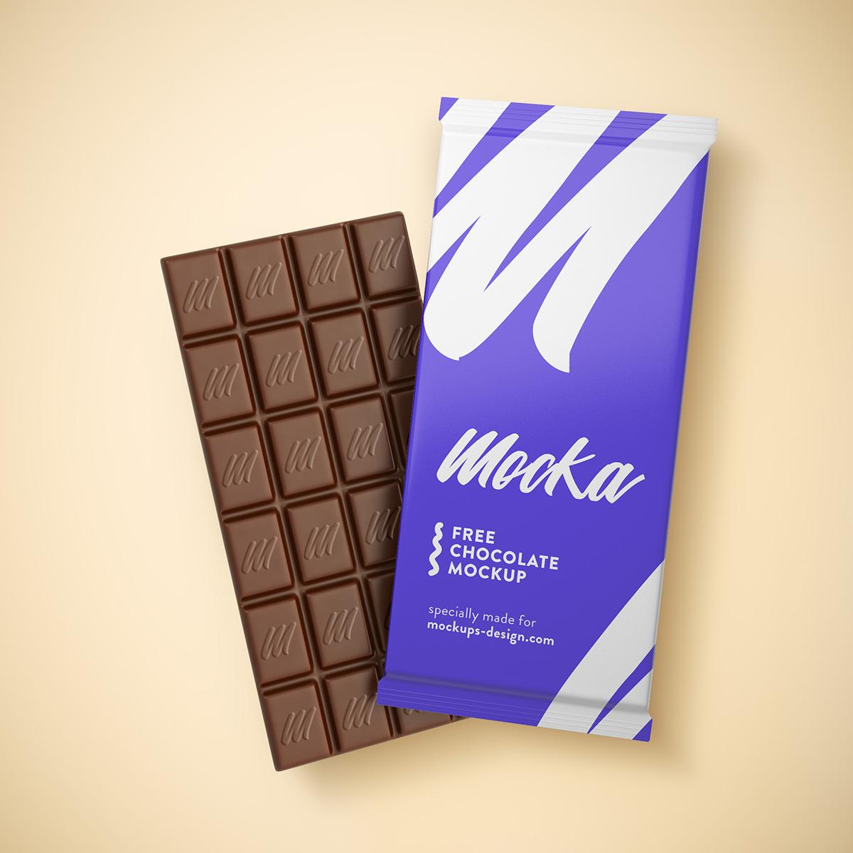 Free Chocolate Mockup On Behance