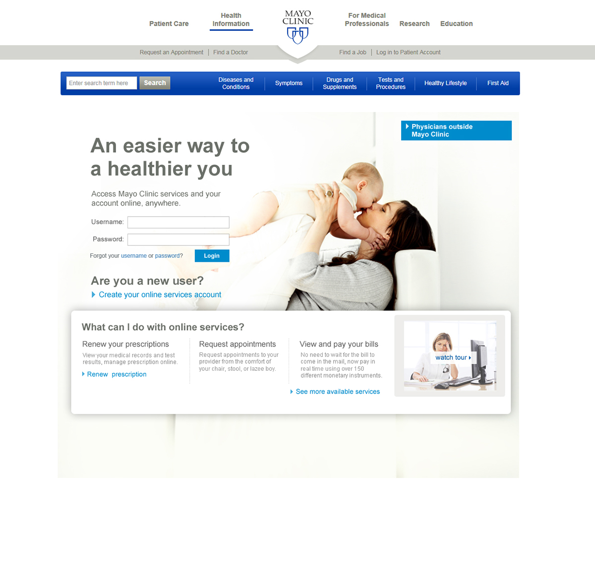 Mayo Clinic Patient Portal Login on Behance