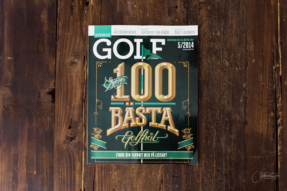 schmetzer magazine cover golf golf.se lettering vector hand drawn type letters editorial process design Illustrator letterer