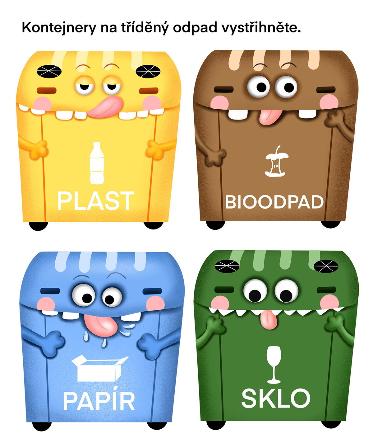 children container Ecology glass plastic