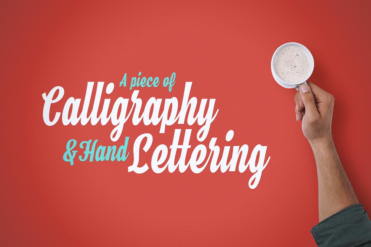 brush lettering logo clean Retro vintage modern free Free font Script cursive