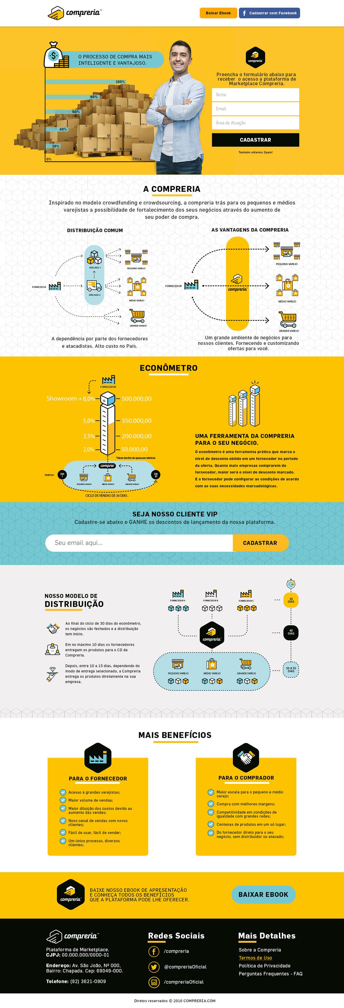 landing page e-commerce manaus empresa start up Startup design Web Interface