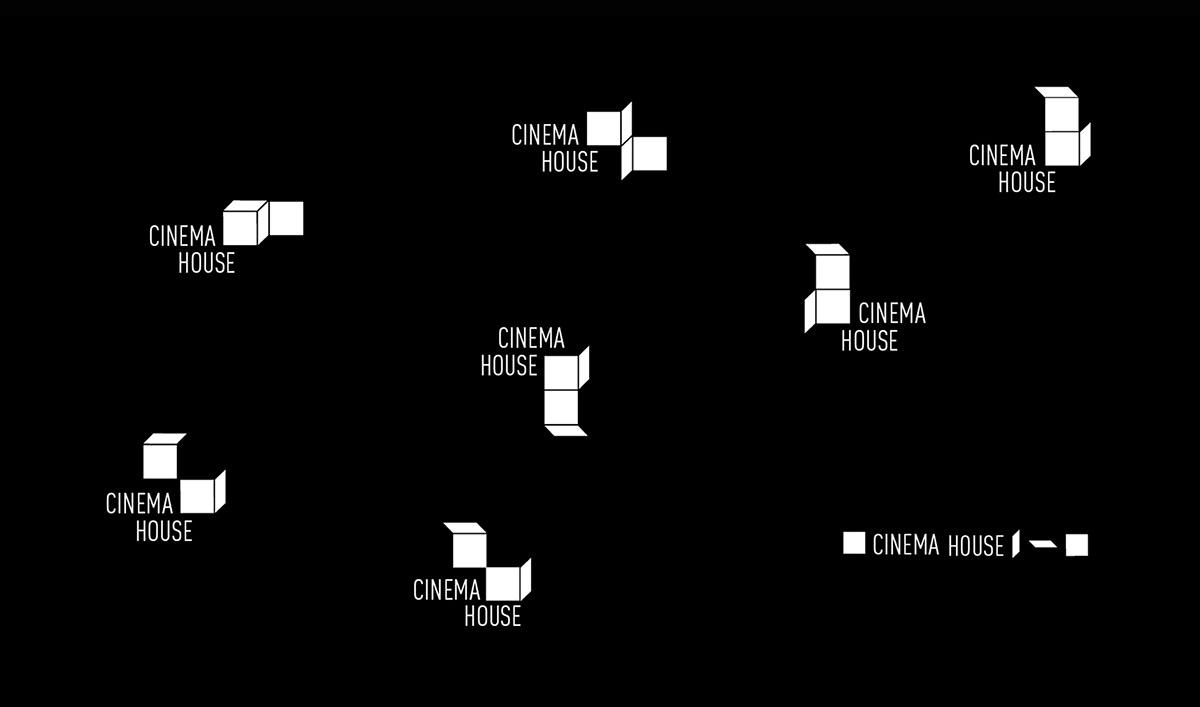 branding  architecture geometric visual identity cinema house Corporate Identity design graphic design  logo logodesign