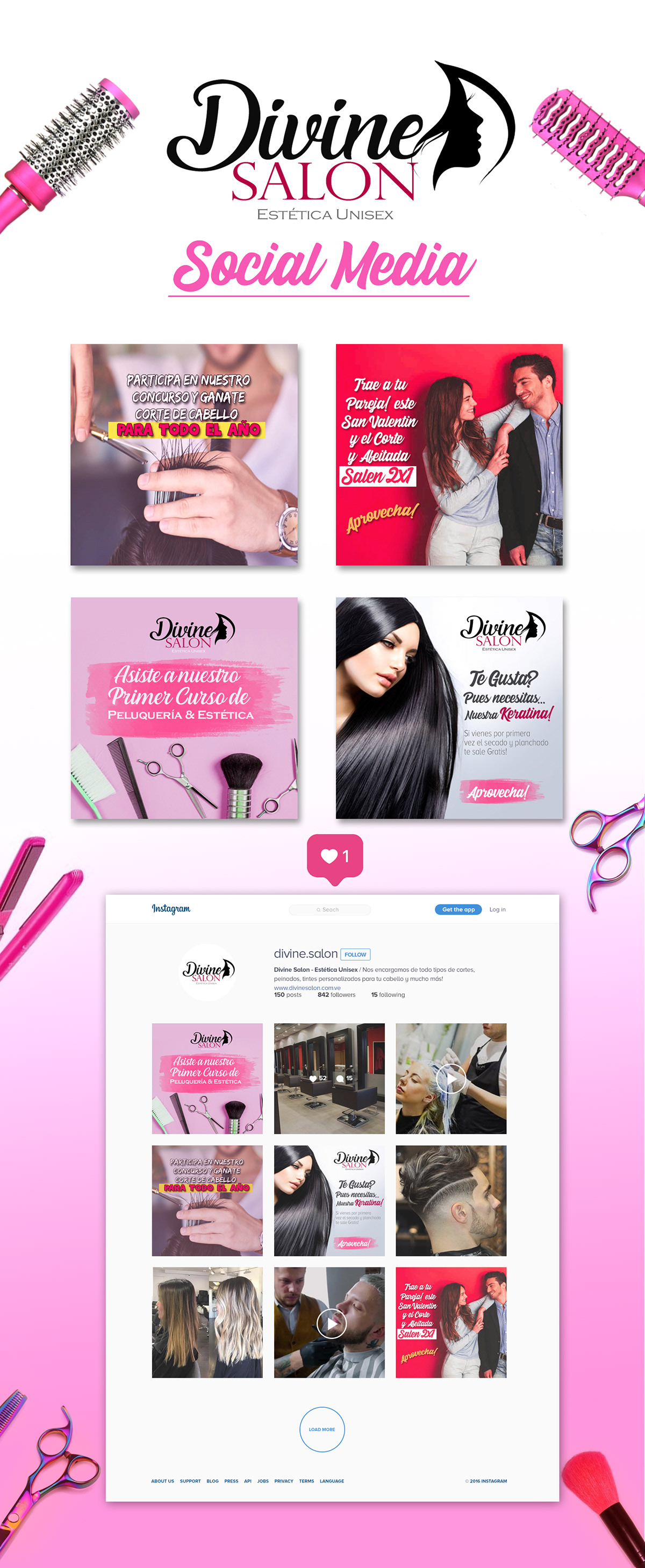 Divine Salon Social Media On Pantone Canvas Gallery