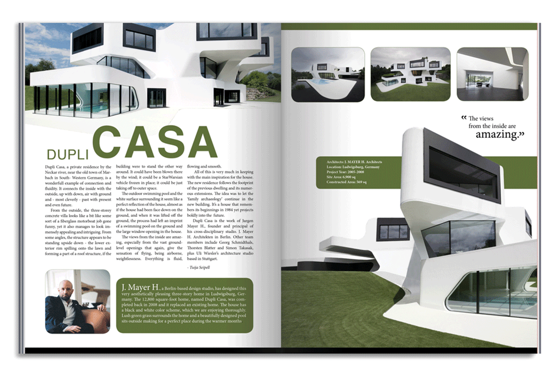 Dupli casa architecture magazine spread on behance for D architecture magazine