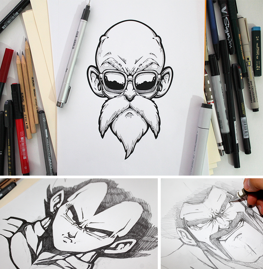 Character Design Dragon Ball Z : Dragon ball z posters on behance