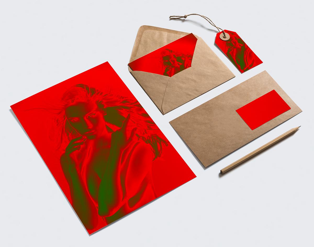 photos graphics digital art red colour Paris design color portrait woman