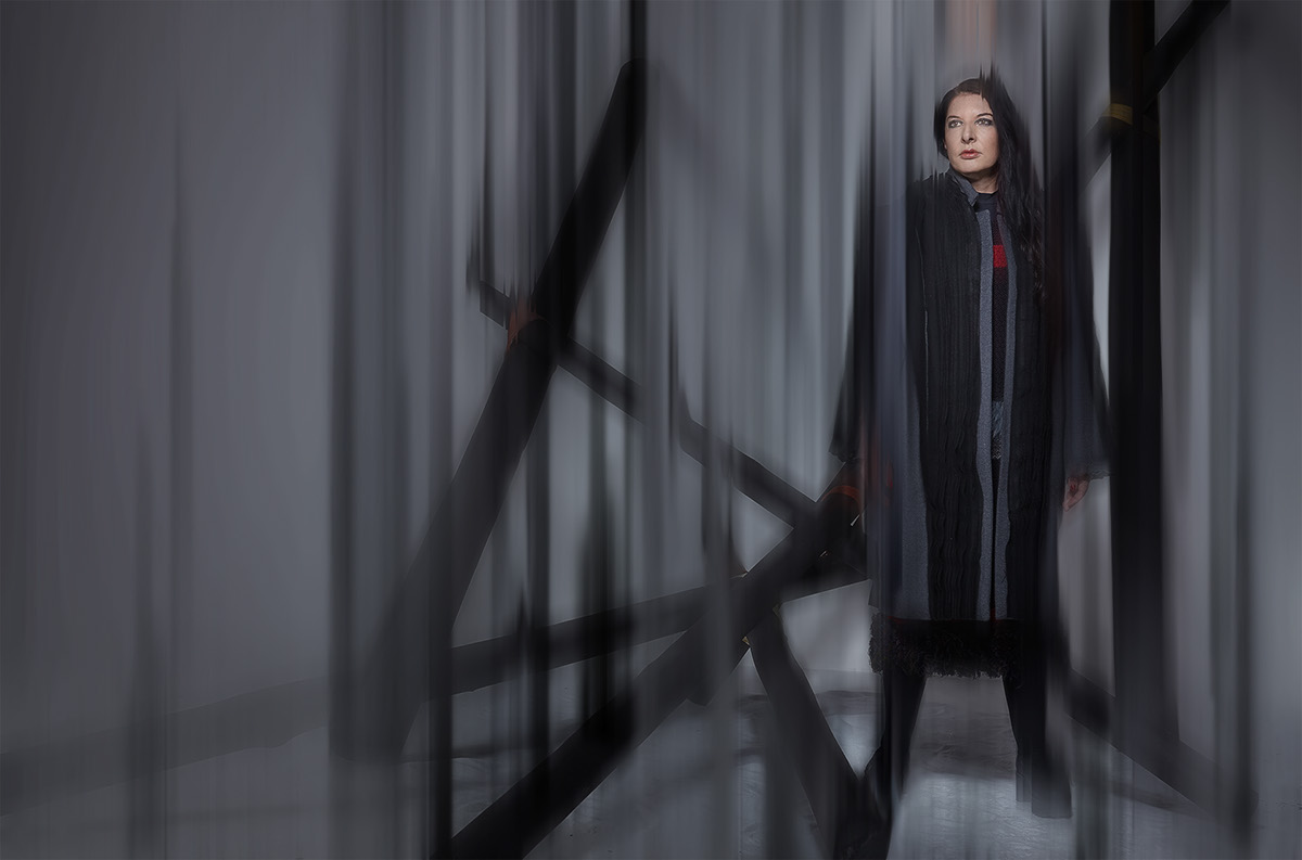 marina abramovic artist Performance article magazine vogue editorial interview colors cloth warm cold face portrait