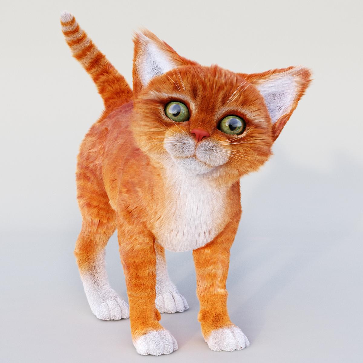 3d model of CAT on Behance