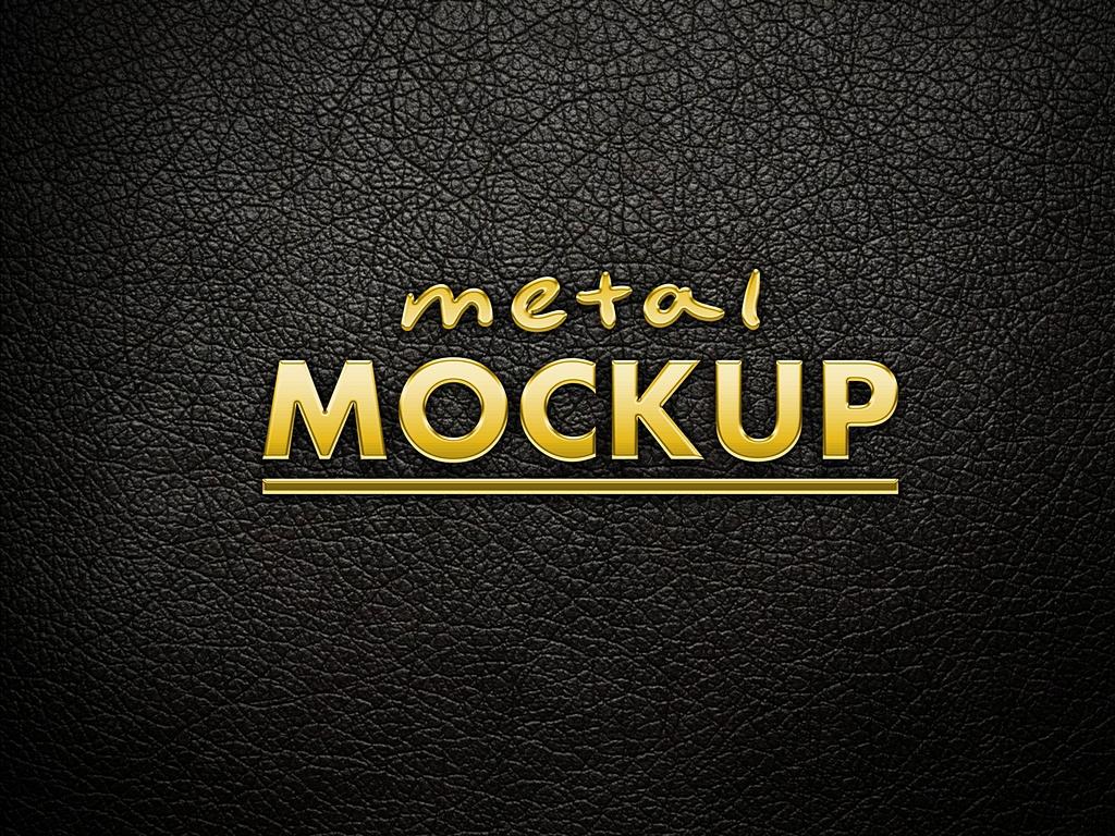 Metal logo mockup on Behance