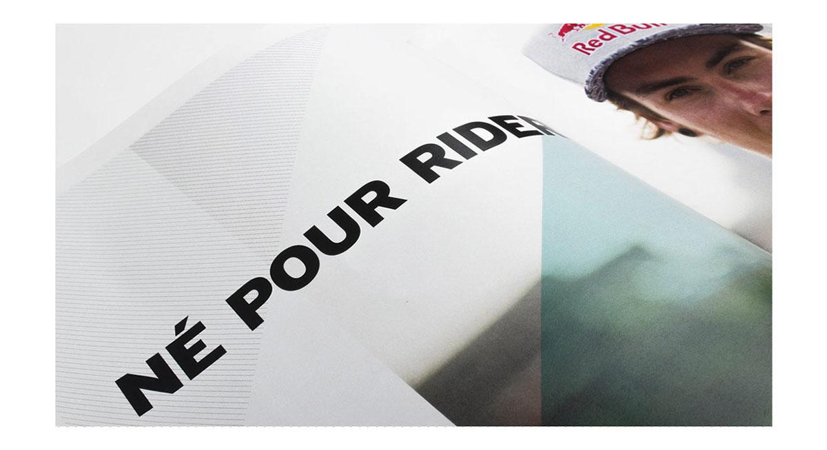 rider snowboard snow planchiste commandite edition gradient dégradé