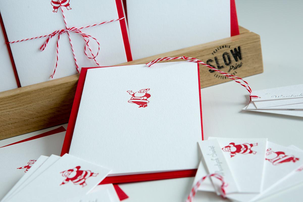 letterpress slowchristmas Christmascards SantaClaus