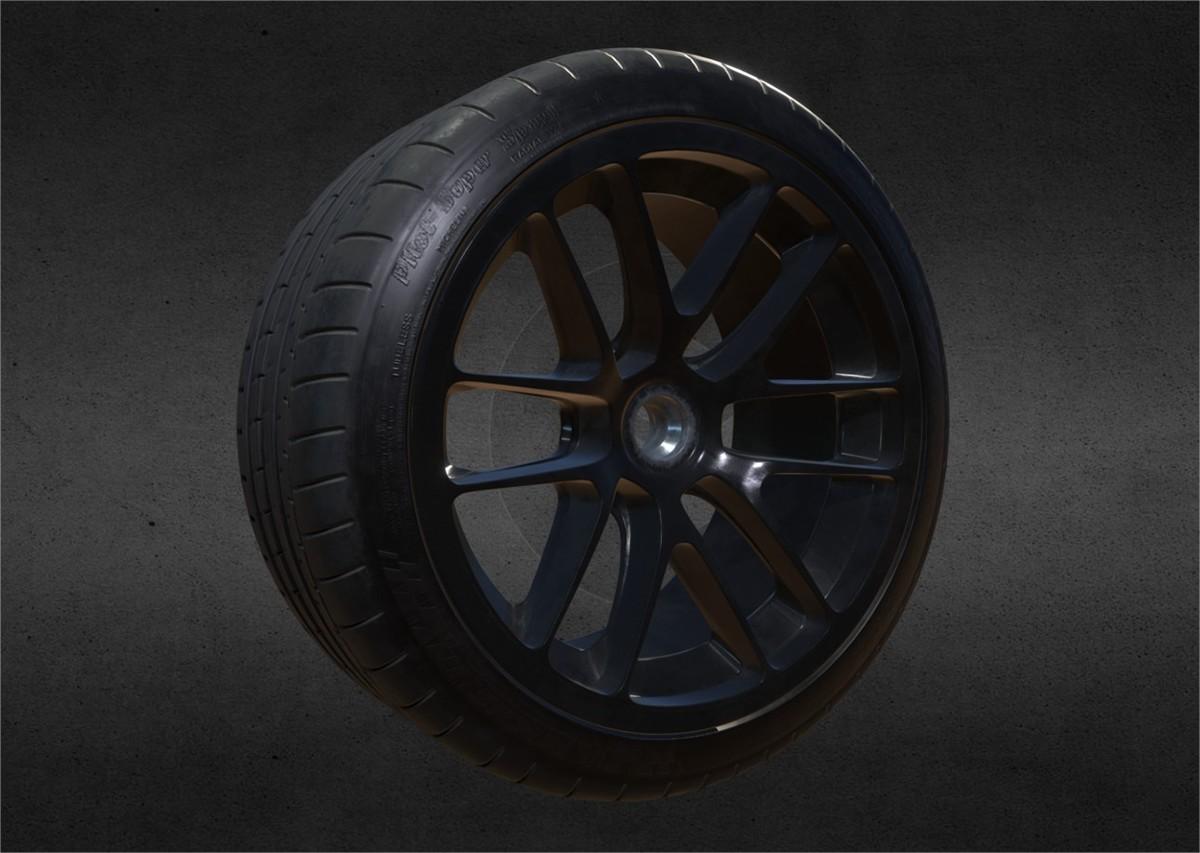 Substance Painter Micheline Tire wheel rim ruver roventa alexandru 3dsmax game