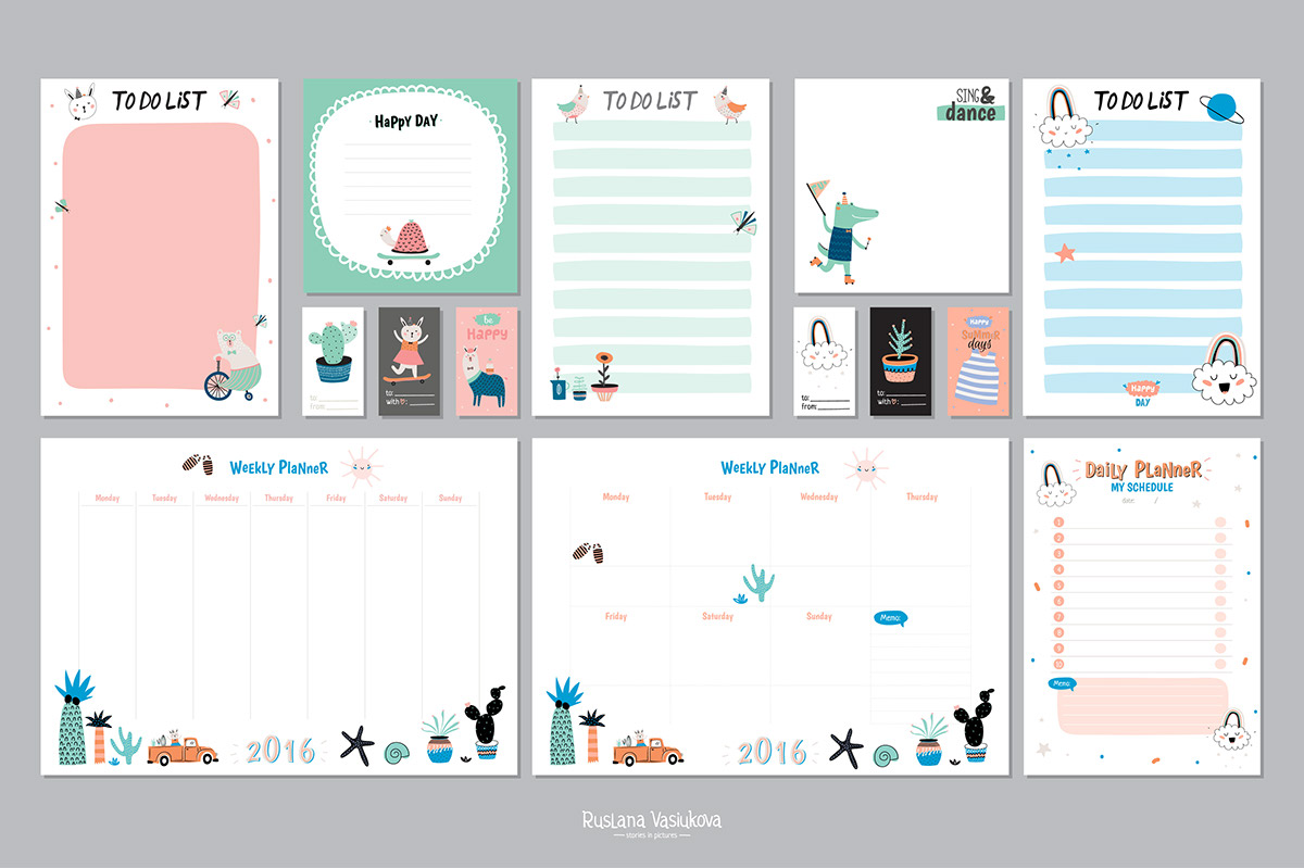 weekly planners daily to do lists on behance