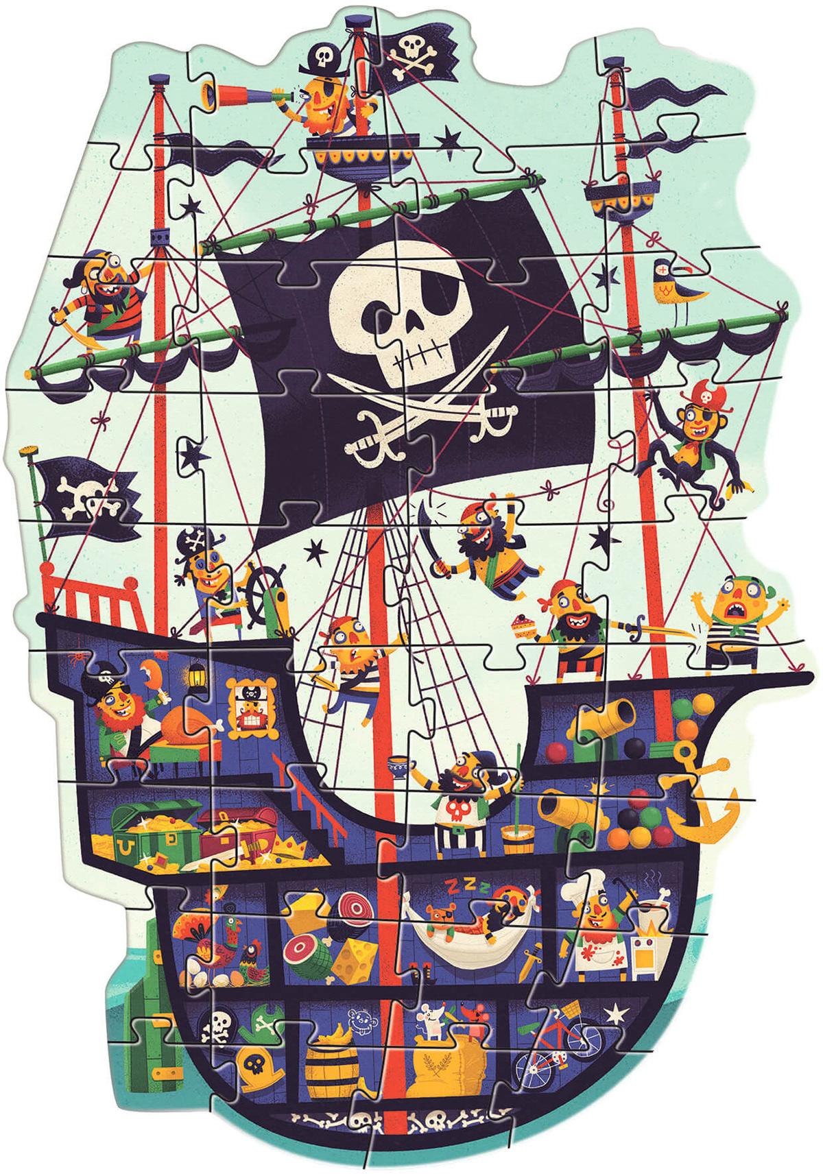 Pirate ship jigsaw by Steve Simpson