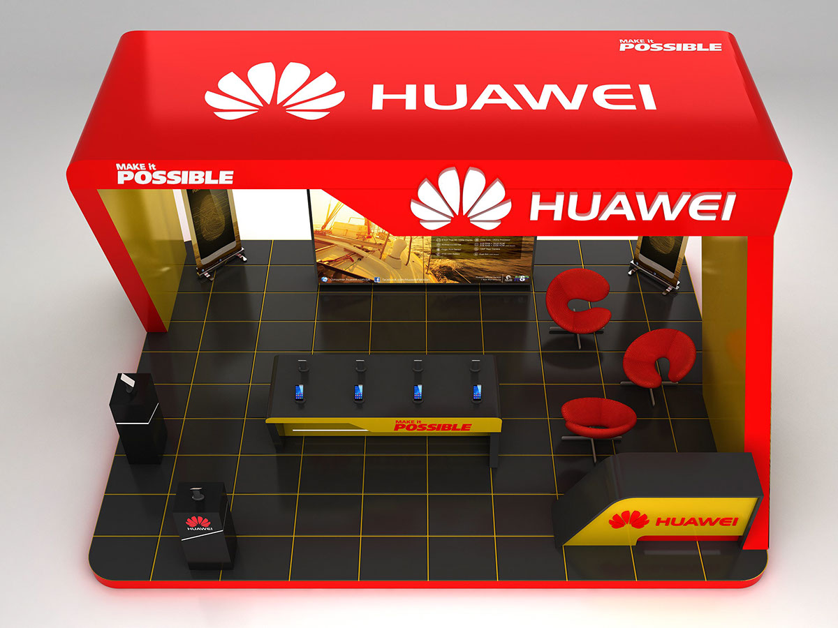 Exhibition Stall On Behance : Huawei exhibition stall on behance