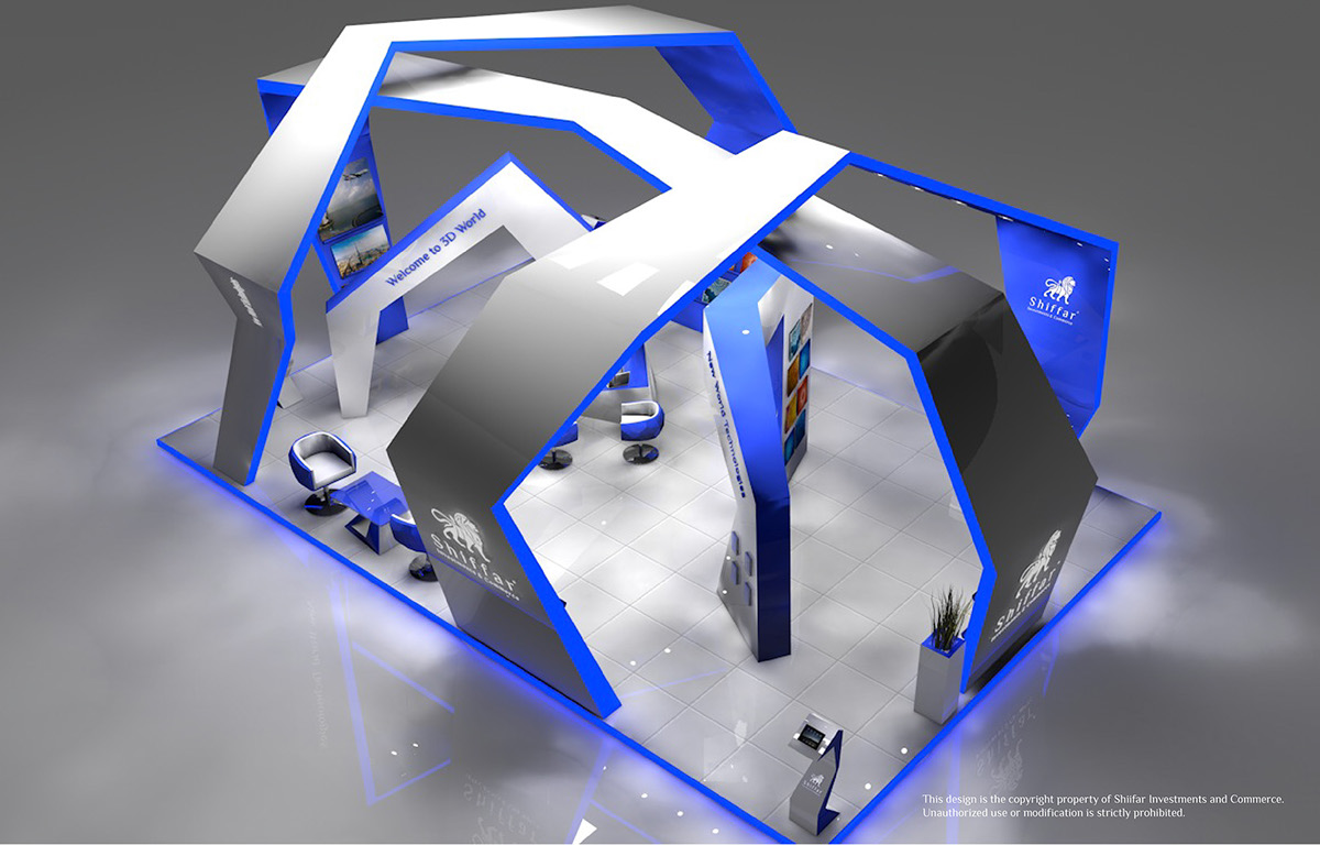 3d Exhibition Booth Design : D exhibition booths on behance