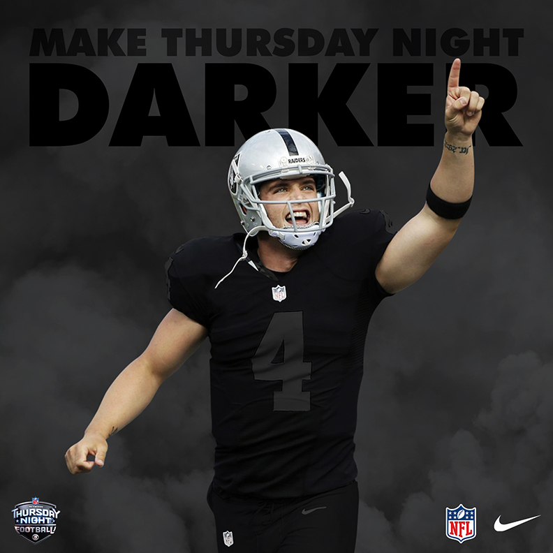ca6a08b60 Nike | 2018 Oakland Raiders – Color Rush Blackout on Behance