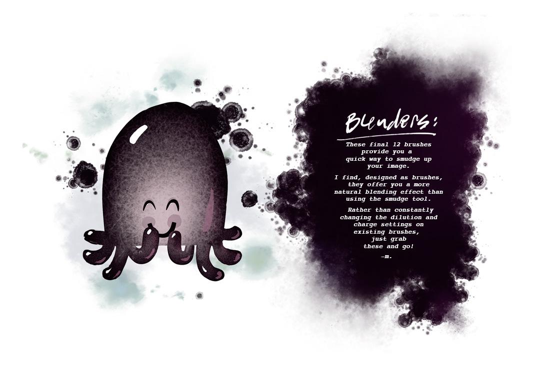 Procreate octopus brushes cephalopod Custom