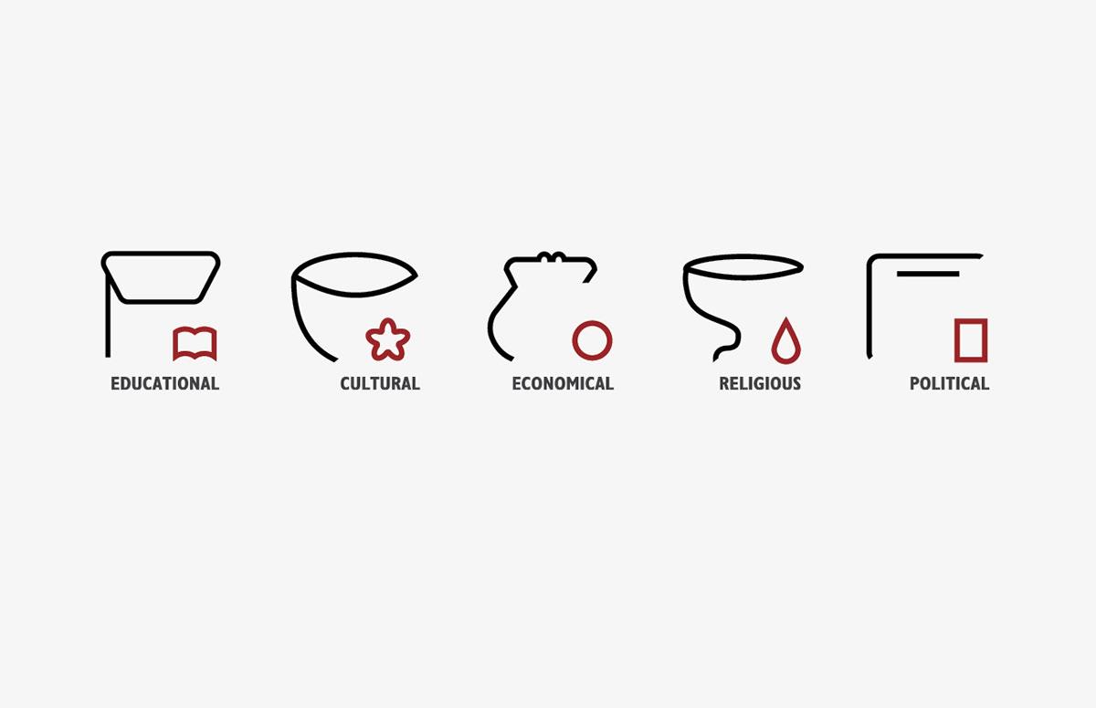 conceptual Graphic designs icon design  icons integrated design