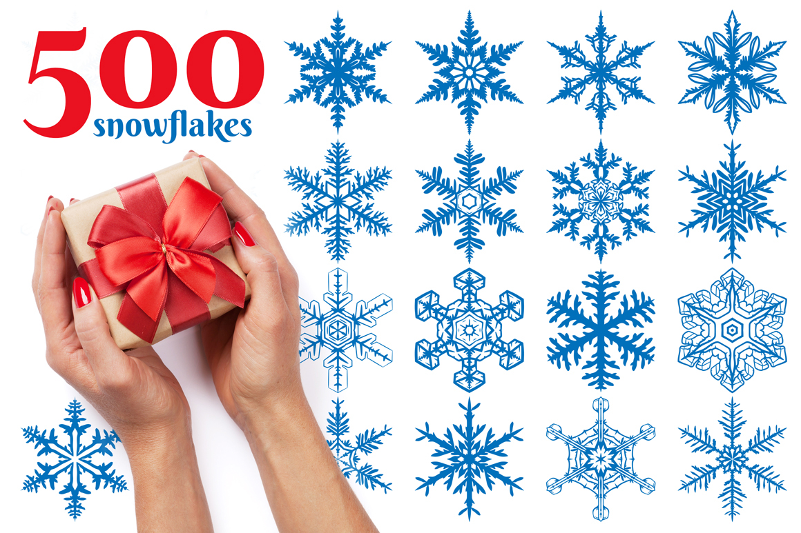 500 Snowflake Vector Ornaments on Behance