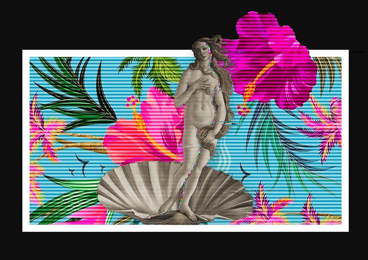 art Classic david disturbed Glitch kiss medusa modern Tropical Venere
