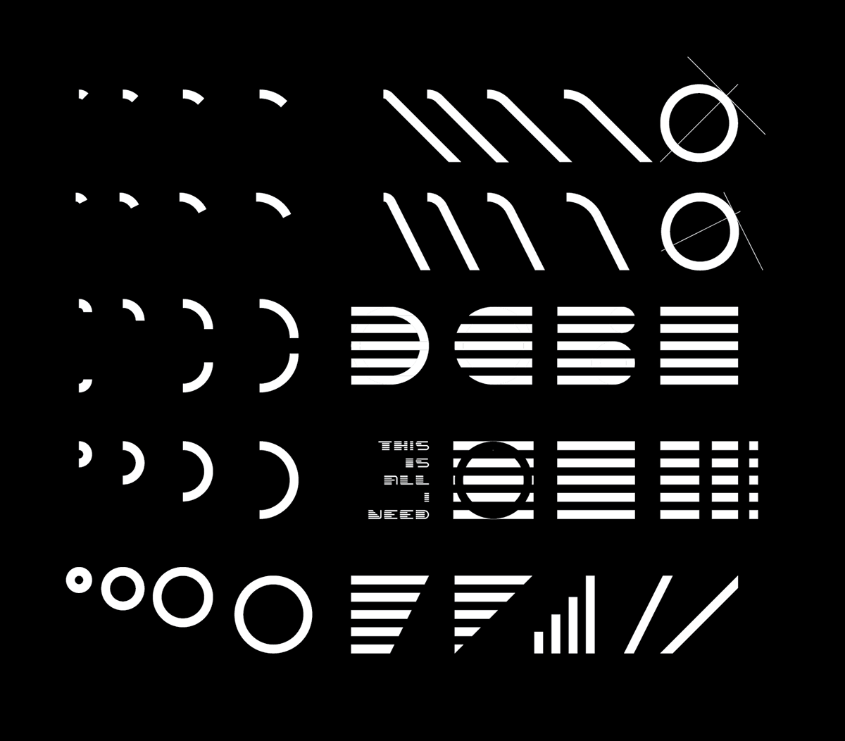 display typeface Typeface font download ILLUSTRATION  typography   simulation hypothesis