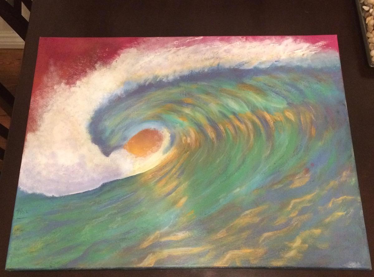 Adobe Portfolio painting   Ocean canvas art artwork