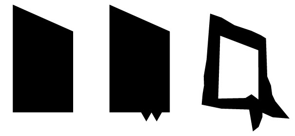 Basic shapes of Aquaith logo taking shape, designed in Adobe Illustrator