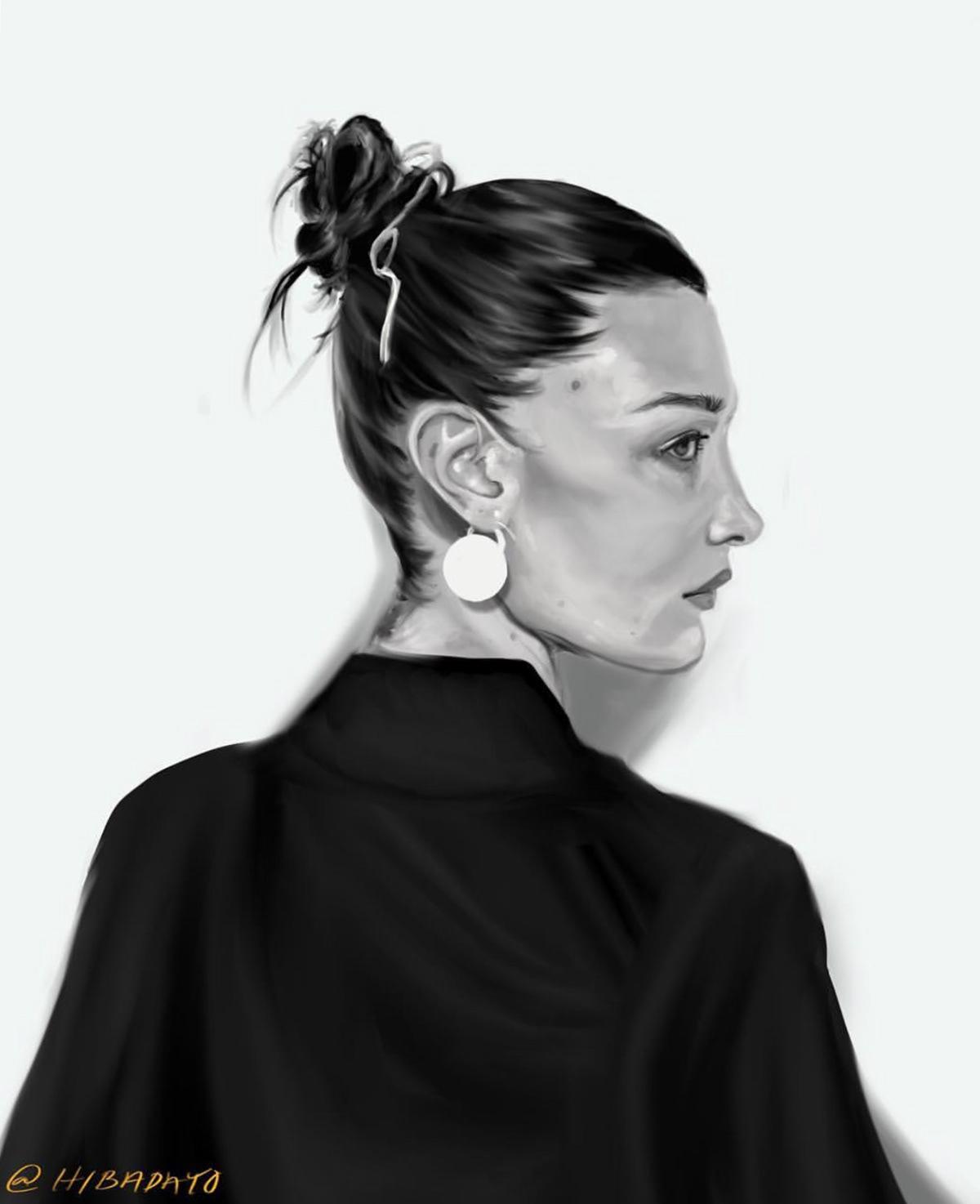 Bella Hadid Drawing On Behance