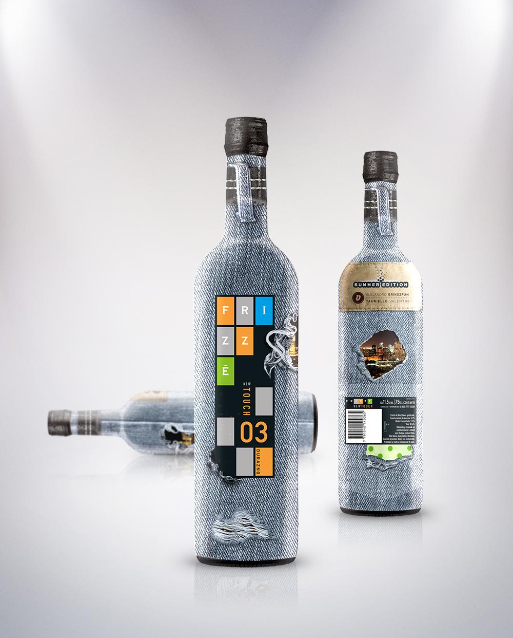 envase botella + packaging frizze Concurso vino wine bottle espumante