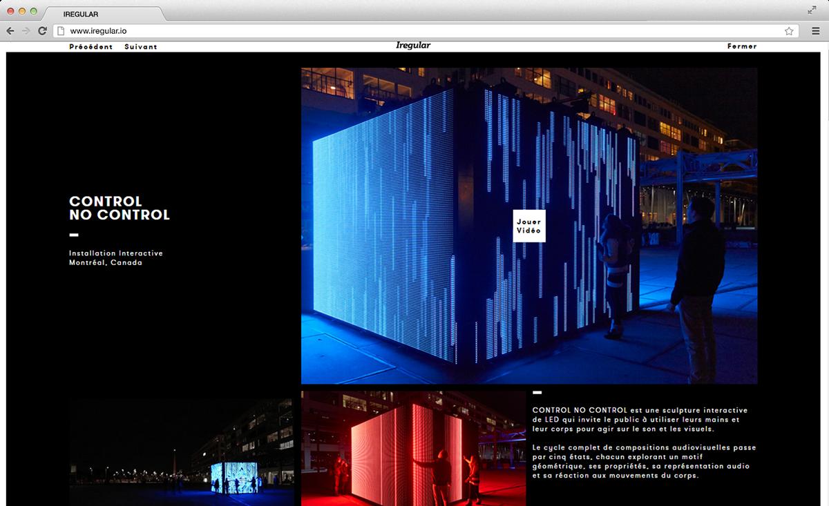 Webdesign interactive portfolio