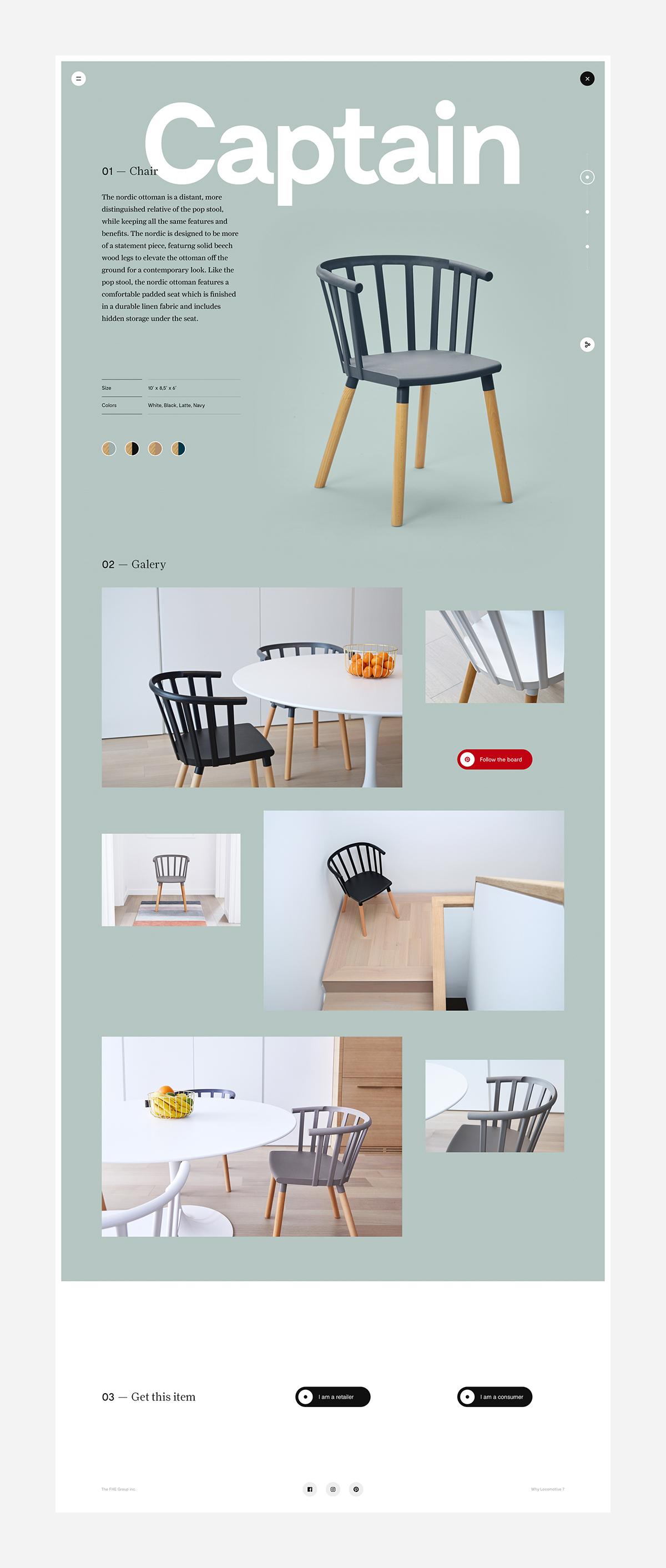 Lookbook Website Responsive Design Interaction design  print product design  Kvell Canada Photography