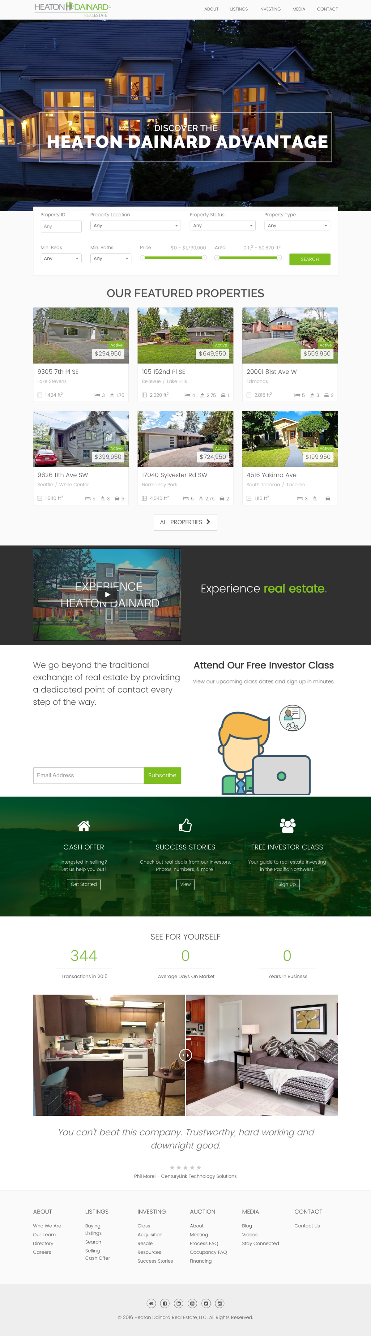 real estate HTML css wordpress web development  Brand Development Web Design  mls integration