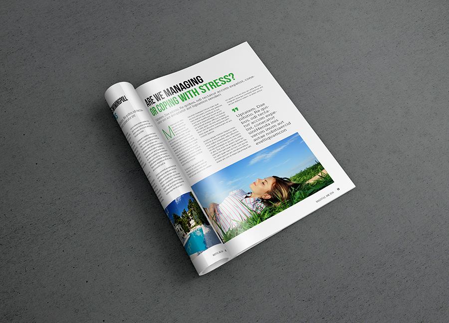 Photorealistic Magazine MockUp (FREE PSD) on Behance