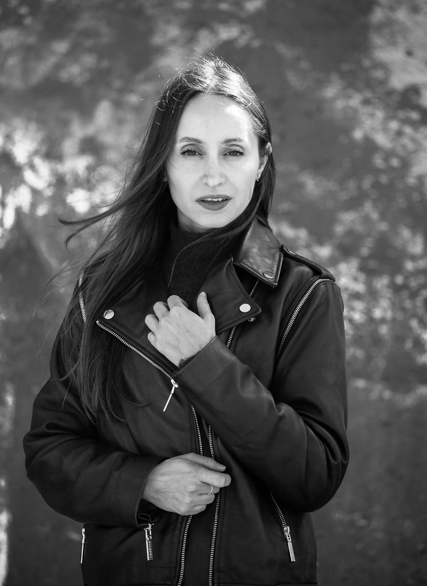 black white Fashion  portrait