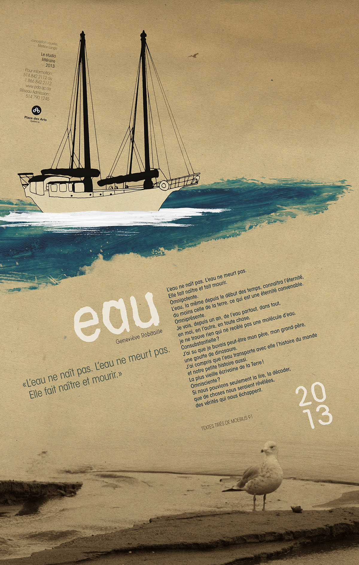calendar poem water sea legs 35 mm calendrier wajdi poésie photos voilier boat mouette