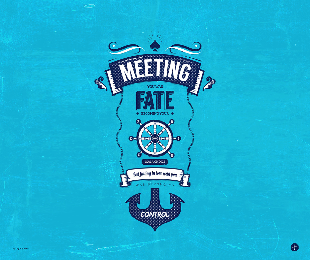 Meeting you was fate - Typographic Art on Wacom Gallery