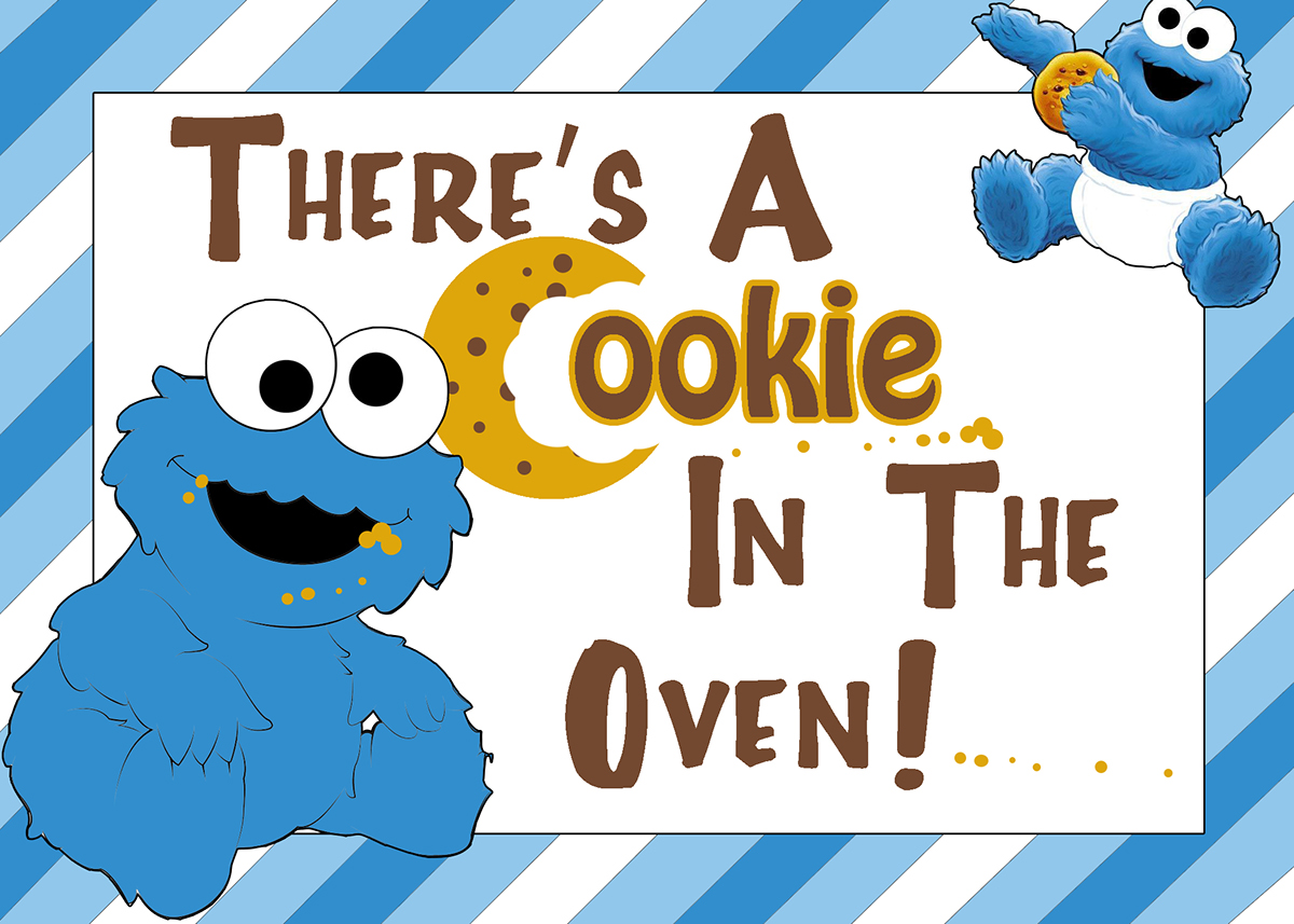 Baby Shower Cookie Monster Theme on Behance