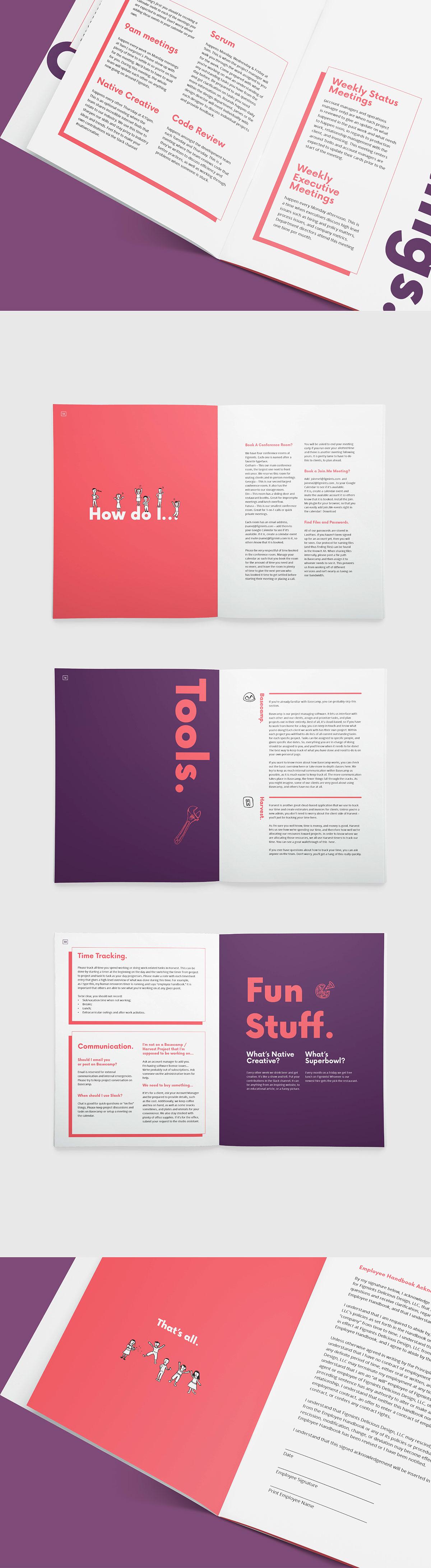 Figmints Employee Handbook On RISD Portfolios - Employee handbook design