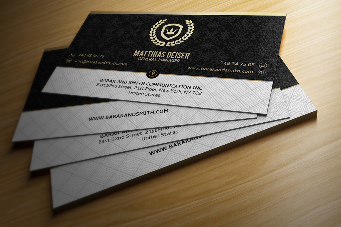 25 Gold Business Cards Bundle on Behance