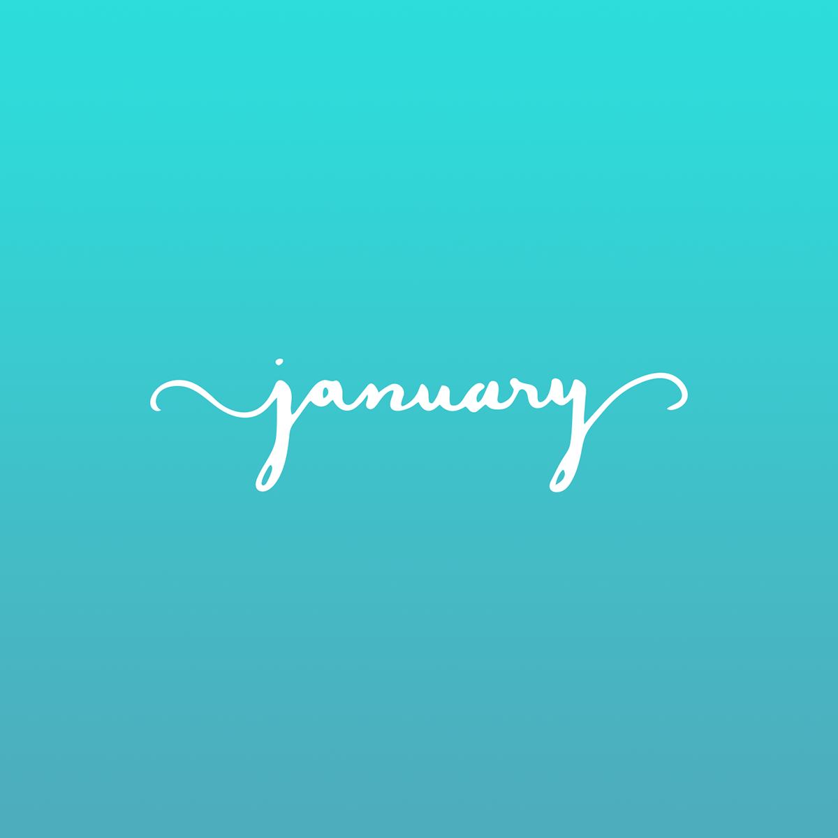 Hand Lettering Months 2017 On Behance