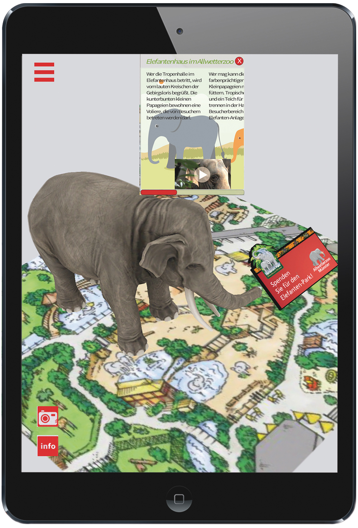 augmented reality android ios Mobile app digital marketing   zoo tourism development programming