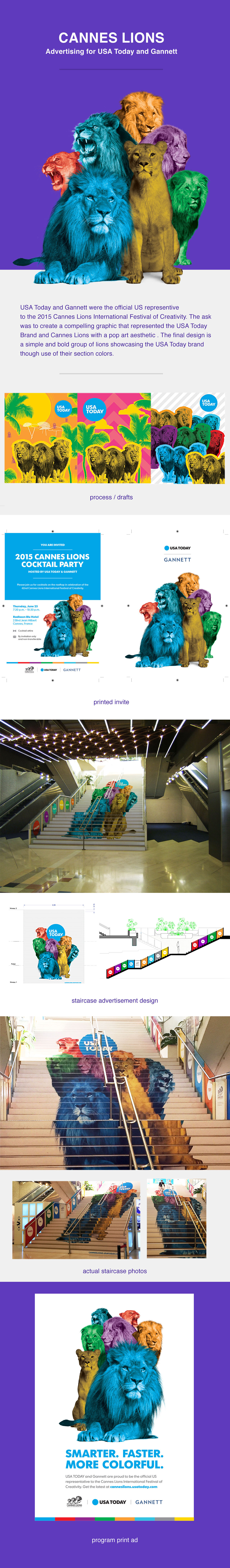 Advertising  Staircase Ad Cannes usa today gannett Lions Cannes lions photo illustration