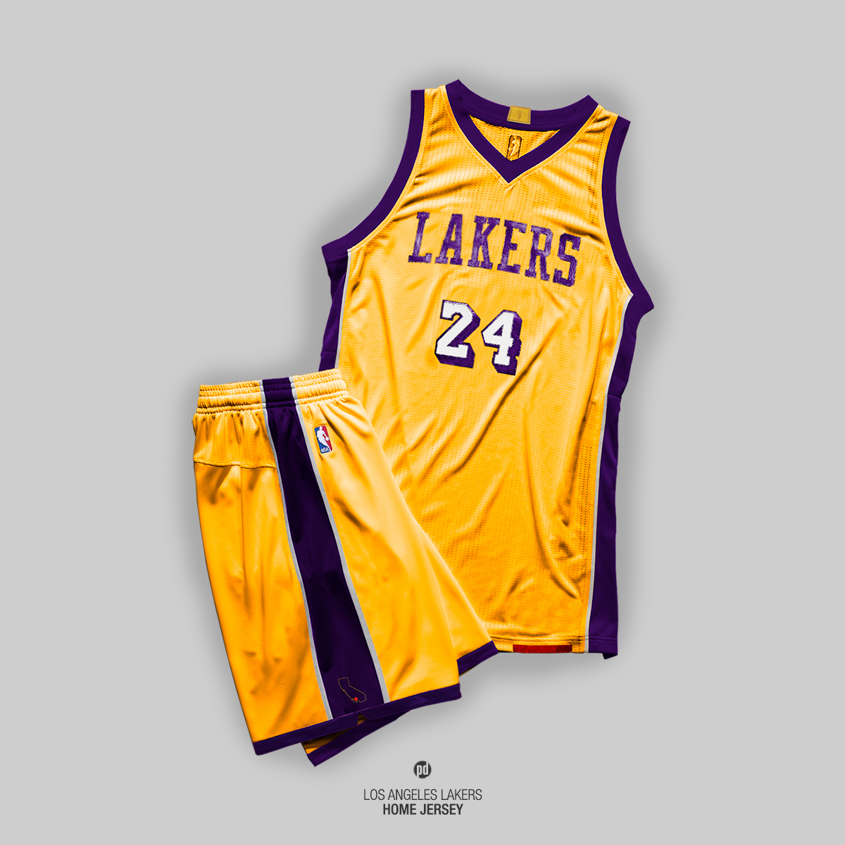 the latest 1cc65 a74de Los Angeles Lakers : Rebrand on Behance