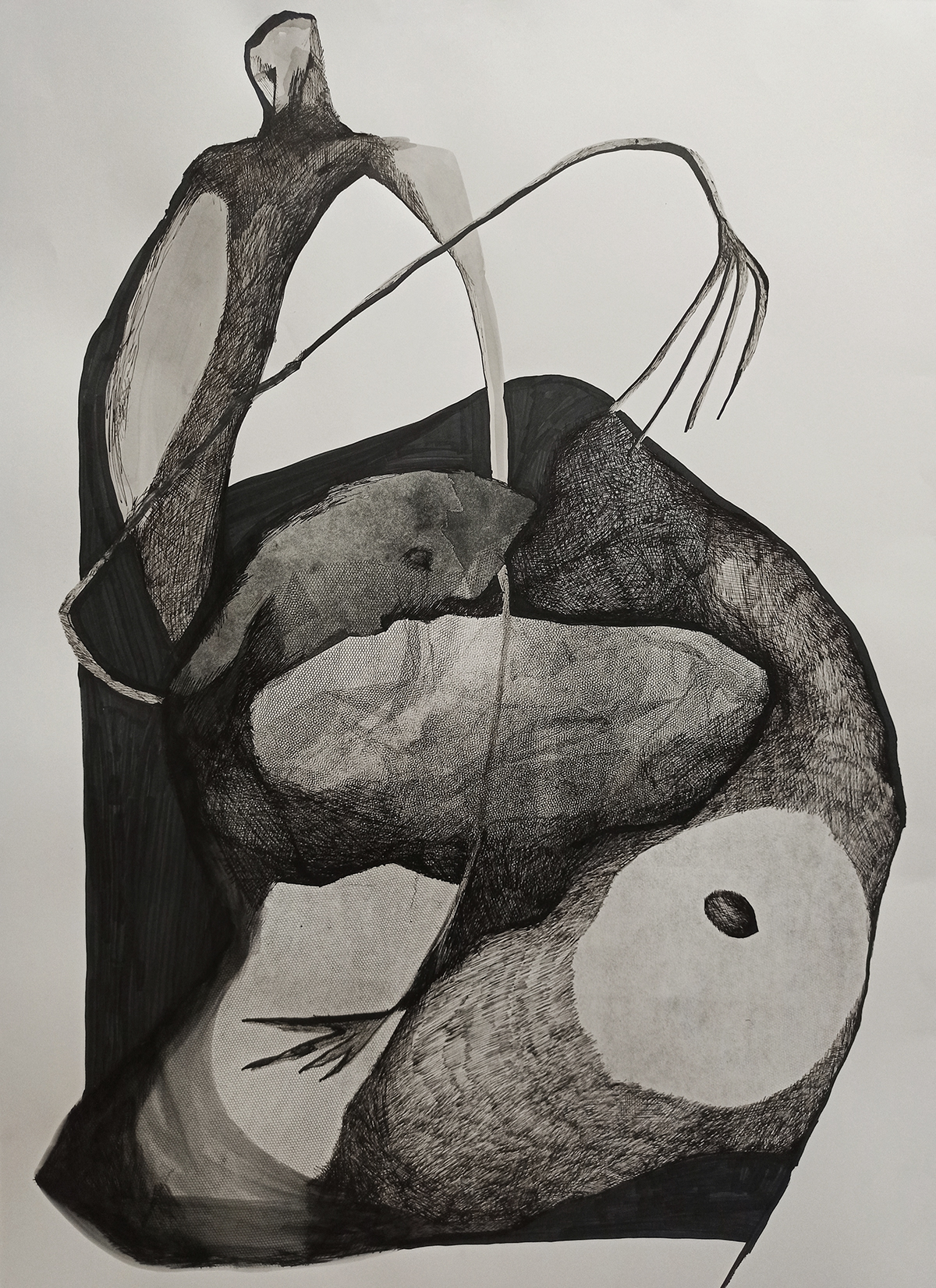 Drawing  fine art Form ink pencil
